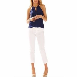 Lilly Pulitzer White Luxury Capri/Crop Pants